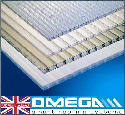 4mm & 10mm Greenhouse Polycarbonate Roofing & Glazing Sheets, Clear, All Sizes
