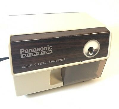 Vintage Panasonic Electric Pencil Sharpener Model KP-110 Auto Stop Office Tested