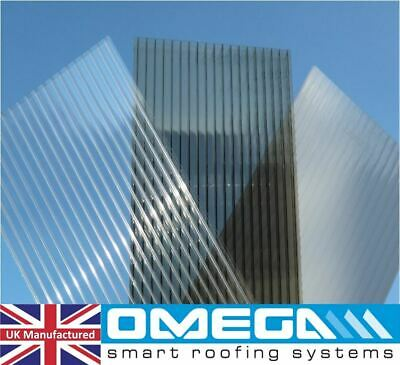 10mm Polycarbonate Roofing Sheets - Clear, Bronze & Opal, Various Sizes