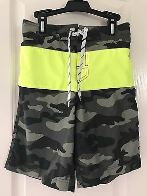 Youth Boys THE CHILDRENS PLACE TCP Camo Swim Trunks Sz Large 10/12