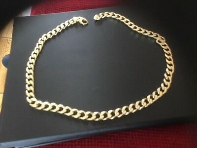 Heavy Gold Chain Solid 9ct, 22 Inches Heavy Clasp 79.5 Grams ,
