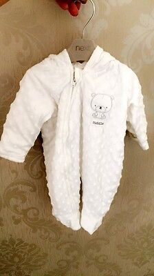 Popcorn Hooded Pramsuit / Snowsuit First Size Unisex