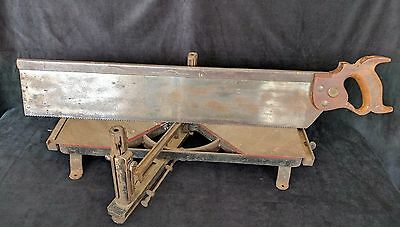 "Antique HENRY DISSTON & SONS 26"" Miter Saw and MITER BOX"
