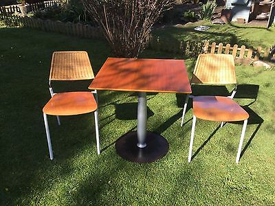 1960 Italian Fly Line Carie V1 Retro Table And 2  Chairs