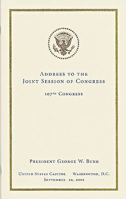 George W Bush 911 9/11 Address to Joint Session of Congress - State of the Union