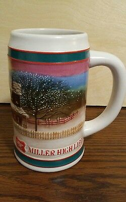 "Miller High Life ""To The Best Holiday Tradition"" Ceramic Beer Mug Stein"