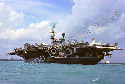 Original Colour Slide Of The Naval Ship Uss Midway