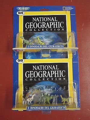 National Geographic Galoob micro Machines  dinosaur sets #2 and #3 carded mint
