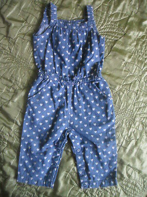 Early Days Girls Summer Holiday Outfits/ Dungarees Heart's 6-9 months