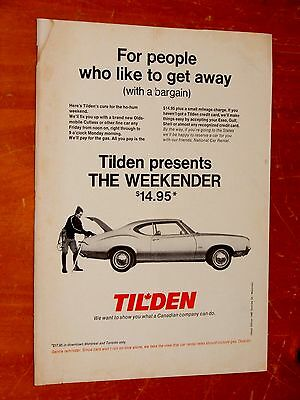1972 Oldsmobile Cutlass Coupe For Canadian Tilden Ad / Retro Vintage 70S