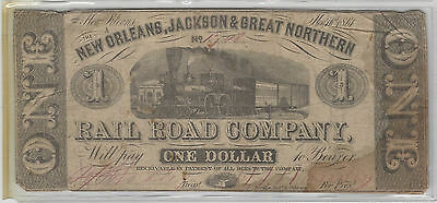 The New Orleans, Jackson & Great Northern Rail Road Company - $1, 1.50, 2 & 3