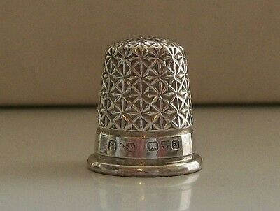 Nice Vintage Solid Silver Charles Horner Thimble (8) Hallmarked Chester 1924