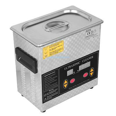 Stainless Steel  Ultrasonic Cleaner 3L Liter Heated Heater w/ Timer Industry