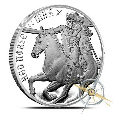Four Horseman Of The Apocalypse Series - Red Horse Of War Silver Round