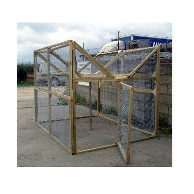 """Wooden Magpie and Crow ladder Trap - 8ft X 6ft - 1""""X1"""" 16 Gauge Galvanised Mesh"""