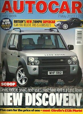 Autocar 7th May 2003, Discovery, StreetKa, Mako Shark, Overfinch, Rolls-Royce