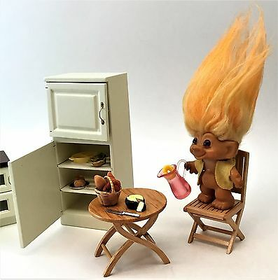 Beautiful Vintage 1960's DAM Things Troll ~ Fire Two Tone Hair, Amber Glass Eyes