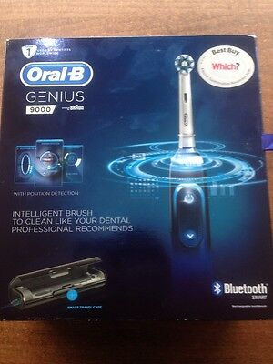 ORAL B GENIUS 9000 Black Electric Toothbrush Powered by Braun BRAND NEW BARGAIN!