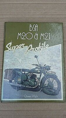 BSA M20 M21 SUPER PROFILE A BOOK by OWEN WRIGHT 1985.