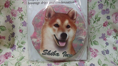 Shiba Inu Dog 2Ct Car Coasters