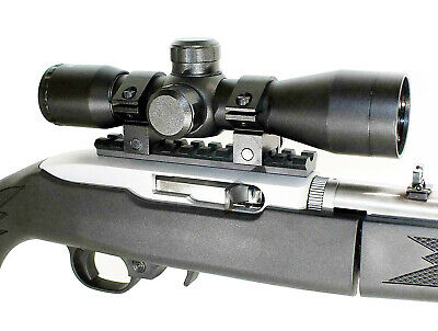 TAN 4x32 Mil-Dot Compact Scope & Ruger 1022 10-22 10/22 Scope Mount.