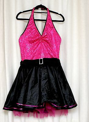 Used IDS Adult Al Size Pink And Black Dance Costume