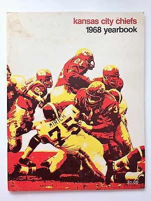 Vtg Kansas City Chiefs 1968 Football Yearbook 1967 Stats / AFL Stram Dawson
