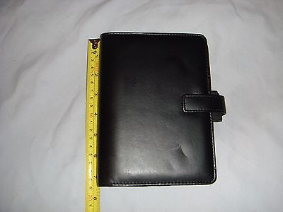 Filofax Identity Personal Organiser - Black With Inserts - In Excellent Cond