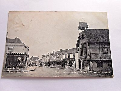 Town Hall Market St, Dunmow Essex-International Stores In Pic-Pm 1905-Postcard