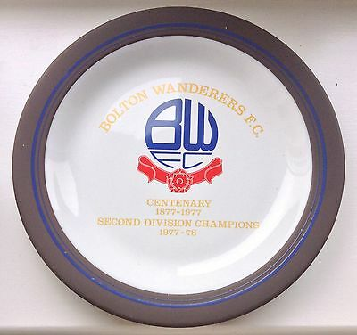 Bolton Wanderers 1877-1977 Centenary Hornsea Plate 1978 Division 2 Champions