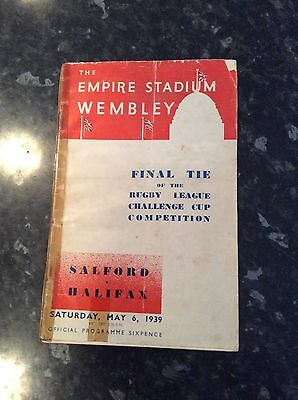 Challenge Cup Final 1939 Salford V Halifax At Wembley 2Nd One