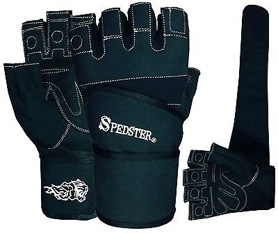 Weight Lifting Gloves Long Wrist GYM Gloves Leather Gym Fitness Body Building
