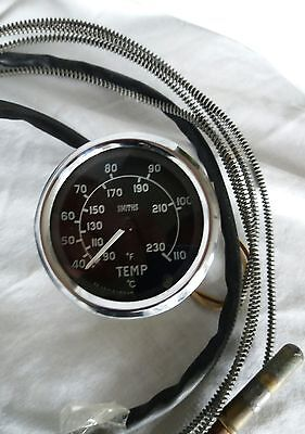 Smiths water temperature gauge, Classic Car Lotus Classic Mini Cooper Works BMC