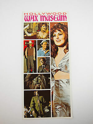 Vintage Hollywood Wax Museum Brochure California 60's -70's