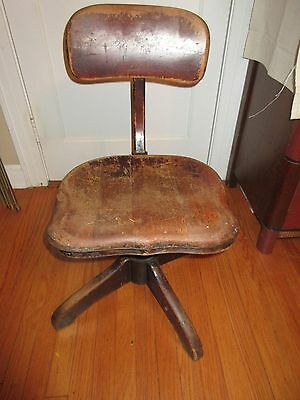 Chair Wood Office Stenographer Drafting Vintage Desk Artists Drawing Chair