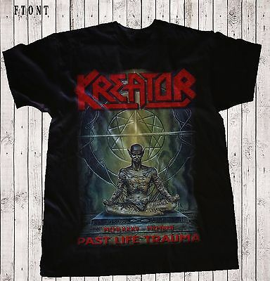 KREATOR-Past Life Trauma (1985–1992)-Thrash metal band ,T-shirt-SIZES: S to 7XL