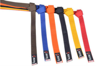 Karate suit Belt/Judo suit belt/Taekwondo Plain Coloured Cotton Belt