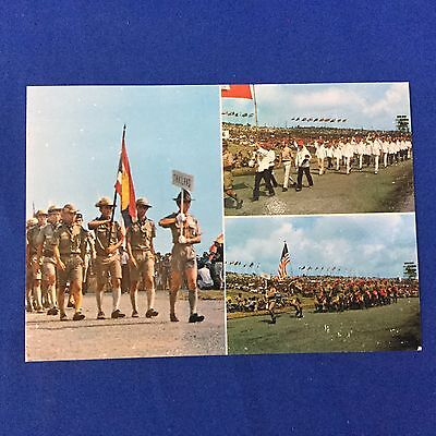 Boy Scout Post Card 1971 13th  World Jamboree Japan Opening Ceremony