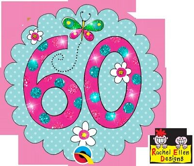 Rachel Ellen Designed-Age 60/60Th  Perfect Pink Big Badge