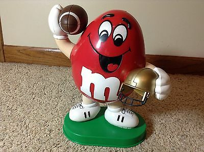 Football - 1995 Red Peanut M&M Dispenser - With Football In Hand
