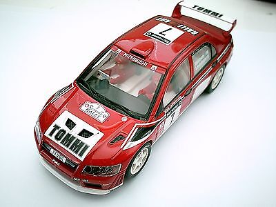 Scalextric Mitsubishi Lancer 4WD WRC Rally Slot Car Tested/Working Ex Racer 1/32