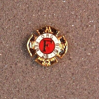Iaff Members Pin Gold Filled Firefighters Fire Dept Fd Fire Fighter Union Badge