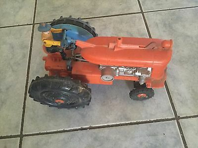 vintage battery powed toy tractor