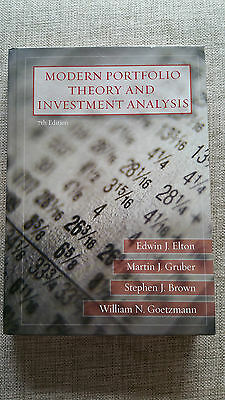 Modern Portfolio Theory and Investment Analysis | Elton Gruber Brown | 7th Ed.