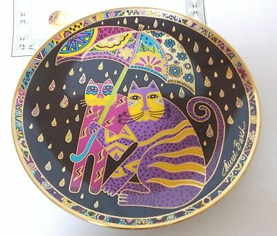 Franklin Mint Laura Burch Fair Weather Felines Collector Plate Numbered Gold
