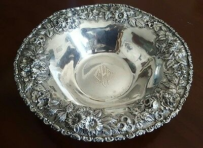 Antique Schofield Sterling Silver Repousse Bowl Baltimore Chased
