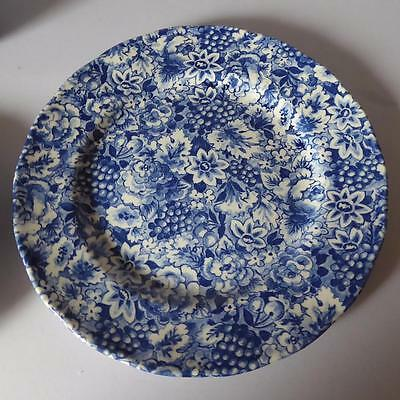 "W.H. Grindley Promesse Cobalt Blue Chintz 10"" Dinner Plate # 2"