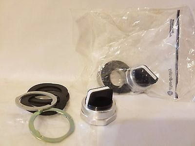 Lot of 2 Allen-Bradley 800T-N230F Selector Switch Actuator Knob Black White