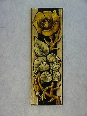 Beautiful Stained glass. ROSE.Hand painted.Kiln fired. 170 x 55 mm.New detail.