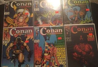 Conan Barbarian 270-275 Final 6 Issues VF To NM